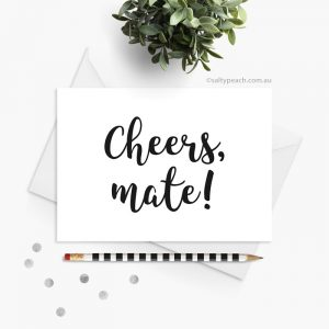 Cheers Mate Thank You card