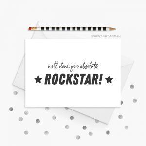 Rockstar Congratulations card