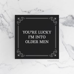 Older Men Birthday card